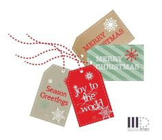 Christmas Gift Tags  INSTANT DOWNLOAD by GraceHawk on Etsy - 12 weeks until Christmas!!!