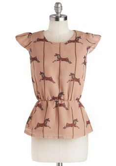 Merry-Go-Astound Top, #ModCloth  This print should be a dress!