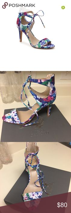 NIB Vince Camuto Ultra Violet Celia Heels New in box. These Vince Camuto multi colored Celia heels are to die for! Gorgeous Floral pattern with bright colors perfect for spring and summer. Vince Camuto Shoes Heels