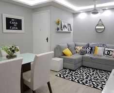 44 small apartment decorating ideas and inspiration 26 Living Room Ideas 2019, Living Room Grey, Apartment Living, Interior Design Living Room, Home And Living, Living Room Designs, Living Room Decor, Small Living, Small Apartment Decorating