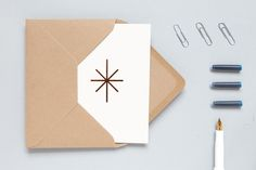 ola stationery - copper foil blocked christmas card. Made in the UK.