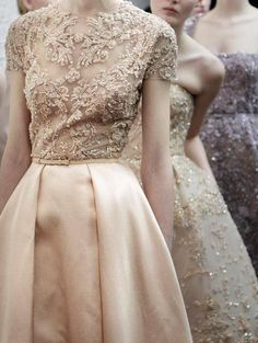 gowns by Elie Saab...love the fabric