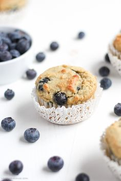 Gluten Free Blueberry Muffins (With Almond Flour)