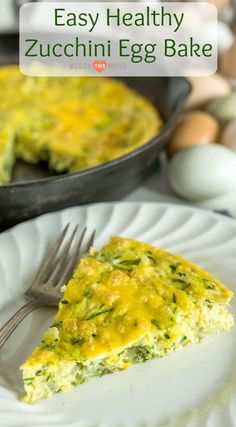 egg meals This Healthy Easy Zucchini Egg Bake recipe is made with 3 ingredients, can be customized to your liking, reheats well, and is a great option to prep ahead. Egg bake casserole is th Zucchini Breakfast, Healthy Breakfast Recipes, Healthy Baking, Easy Healthy Recipes, Brunch Recipes, Easy Meals, Brunch Ideas, Recipes With Egg Easy, Quiche Recipes