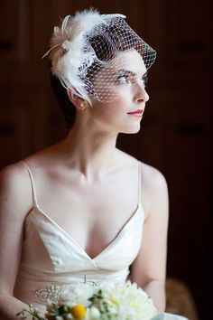 #birdcage-veil  Photography: Vitalic Photo - vitalicphoto.com  Read More: http://www.stylemepretty.com/2011/07/27/chic-bella-collina-diy-wedding-from-vitalic-photo/