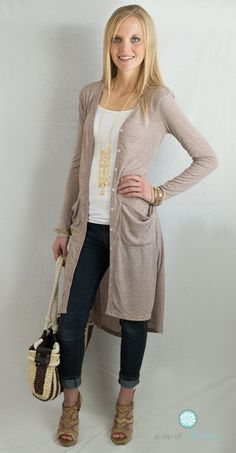 Long Pocket Cardigan - 3 Colors | Jane