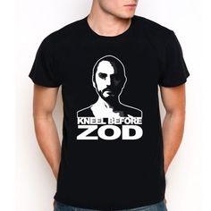 Kneel Before Zod Smallville Custom Black T-Shirt Tee All Size