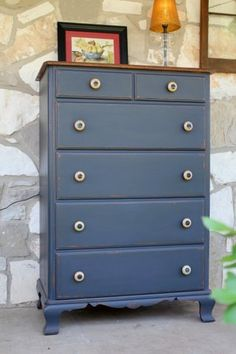 Vintage Painted Chest of Drawers by Nodtothepast on Etsy
