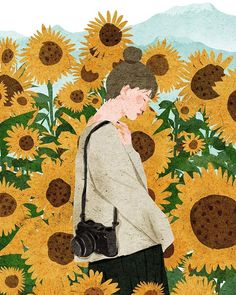 How it is made a realistic eye drawing? Sunflower Wallpaper, Sunflower Illustration, Art Painting, Girly Art, Cute Art, Art, Boy Art, Art Wallpaper, Aesthetic Art