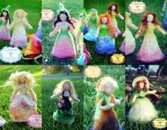 This is listing for 1 (ONE) doll: Upside Down Surprise Miss Sugar Plum Fairy  It is springtime! Our Miss Little Sugar Plum Fairy has been