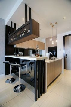 Stylish Kitchen With Integrated Bar Counter Kitchen In 2019 Kitchen Bar Counter Design Designs For Small Memmtmarche Info Rock Your Space With 2019 Home Bar Counter, Bar Counter Design, Kitchen Bar Design, Home Decor Kitchen, Kitchen Interior, Kitchen Ideas, Apartment Kitchen, Decorating Kitchen, Interior Design For Small Kitchen