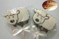 pirulito de chocolate Ovelhinha - festa fazendinha