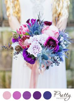 Purple Wedding Colors || PHOTO SOURCE • FLORA + FAUNA