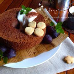小さな幸せの形。チョコレートシフォン〜しっとり優しい食感〜