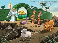 Adam and Eve Wall Stickers for your children's church room or Sunday school room. These are great! www.ScriptureImages.ca