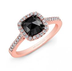 50 Non-Traditional Black Diamond Rose Gold Engagement Rings