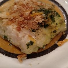 Aunt Carol's Spinach and Fish Bake - Allrecipes.com