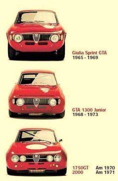 The evo of Giulia Alfa Cars, Alfa Romeo Cars, Alfa Romeo Gtv6, Alfa Romeo Giulia, Old Sports Cars, Vintage Sports Cars, Alfa Romeo Junior, Alfa Gtv, Gt Cars