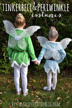 Family Ever After.: Tinkerbell and Periwinkle {Homemade Costumes}