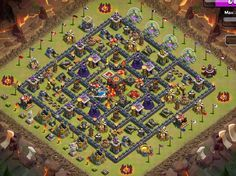 CLASH OF CLANS BASE STRATEGY: War Base Town Hall 10
