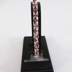 Bracelet chainmaille byzantine bi color