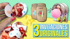 ¡3 INVITACIONES Súper ORIGINALES para TU FIESTA! * TARJETAS de CUMPLEAÑO...