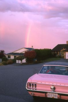 Surreal pink sky.