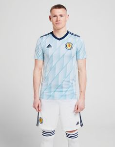 Shop online for adidas Scotland 2020 Away Shirt in White with JD Sports, the UK's leading sports fashion retailer. Scotland Men, Jd Sports Fashion, Sports Logo, Classic Looks, Workout Shirts, Product Launch, Blue And White, Pitch, Men's Clothing