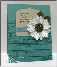 Beautiful Bunch, #stampinup, Stampin' Up!, daisy, Hardwood, Pennant Die, flower card, Connie Babbert, www.inkspiredtreasures.com