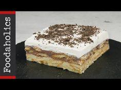Εύκολο και οικονομικό μπισκοτογλυκό ψυγείου | Foodaholics - YouTube Desserts With Biscuits, No Bake Desserts, Chocolate Shavings, Chocolate Pudding, Food Cakes, Kraft Recipes, Cake Recipes, Torte Cake, Food Now