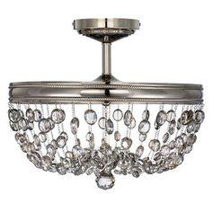 Plafon MALIA będzie wyjątkowym uzupełnieniem każdej stylowej aranżacji. #mlamp #oświetlenie #lampa #sufitowa #glamour #kryształki #wystrój #wnętrz