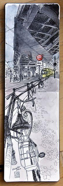 Under the U2, Eberswalder station, Berlin-Prenzlauer Berg by Jeckenzibbel, via Flickr