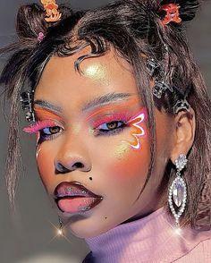 Dope Makeup, Edgy Makeup, Dark Skin Makeup, Black Makeup, Makeup Inspo, Makeup Art, Makeup Inspiration, Cute Makeup Looks, Gorgeous Makeup