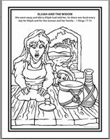 kidco labs elijah and the widow coloring sheet - Elijah Bible Story Coloring Pages