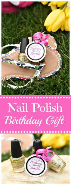 Cute Nail Polish Birthday Gift for Friends-A simple birthday gift idea that they will love. #birthdaygifts #giftideas#birthdays