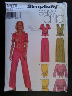 Simplicity 9576 Misses Easy Chic Front Wrap by Noahslady4Patterns