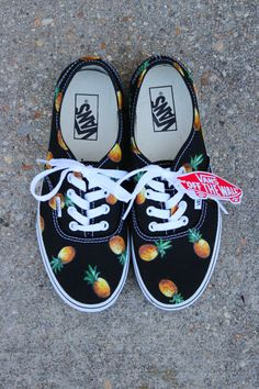 Pineapple VANS fruit of your choice by Sophiescustomshoes on Etsy, $120.00