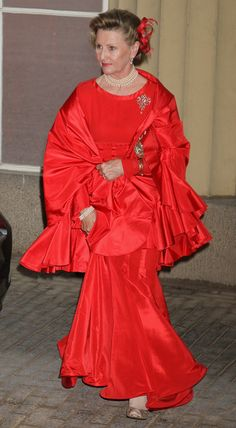 Queen Sonja in Foreign Sovereigns Attend Dinner to Commemorate the Diamond Jubilee