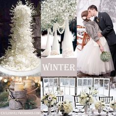 Rustic Winter for those who want something a bit rustic without a main color but with lots of white along with earthy elements such as pine cones, tree bark, etc.