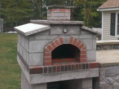 Ciulla Family Wood Fired Outdoor Pizza Oven in Massachusetts by BrickWood Ovens Outdoor Kitchen Bars, Backyard Kitchen, Outdoor Kitchen Design, Outdoor Kitchens, Patio Design, Outdoor Rooms, Outdoor Living, Outdoor Bars, Outdoor Showers