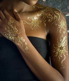 Golden henna designs... #temporary #tattoo #summer #tattoos