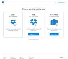 dropbox plan mix page