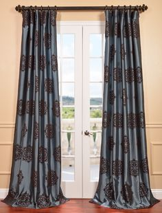 Designer Curtains & Drapes. Embroidered silk curtains At Half The Price
