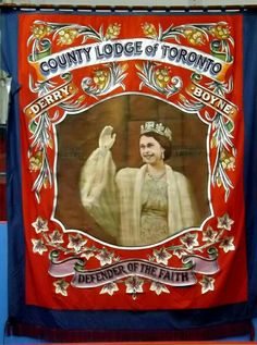 County Lodge of Toronto, Canada Southern Colonies, Orange Order, Defender Of The Faith, Canadian Culture, Toronto Canada, Banners, Tapestry, Bright, Band