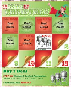 Homebrew Finds: 12 Deals of Christmas: 100 Of Conical Fermenters