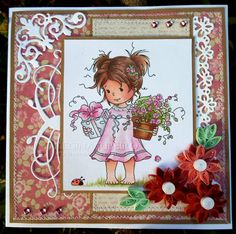 Wee stamp and quilling flowers