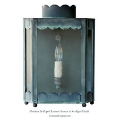 THE SCALLOPED LANTERN SCONCE