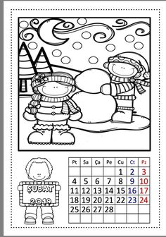 2019 Takvimi Çiğdem Öğretmen Coloring Pages, Crafts For Kids, Preschool, Snoopy, Activities, Black And White, Comics, Fictional Characters, Penguins