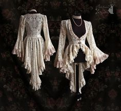Lace Victorian inspired cardigan wedding por SomniaRomantica