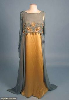 LIBERTY & CO. AESTHETIC EVENING GOWN, 1908-1910